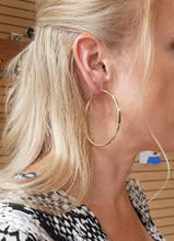 Load image into Gallery viewer, Big Gold Hoops - Fifth Avenue Jewellers