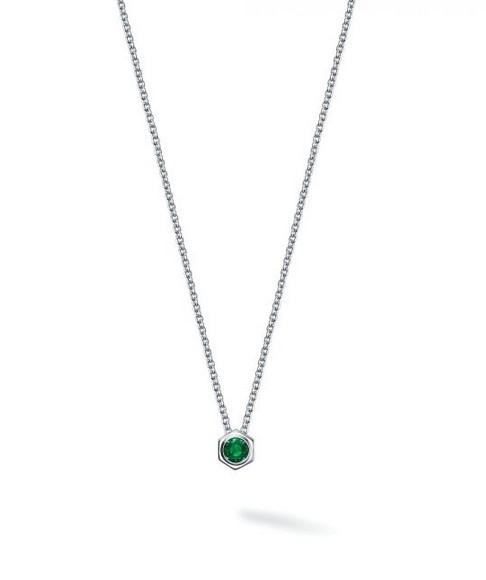Birks Bee Chic Emerald and Silver Pendant - Fifth Avenue Jewellers