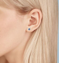Load image into Gallery viewer, Birks Bee Chic Sapphire and Silver Stud Earrings - Fifth Avenue Jewellers