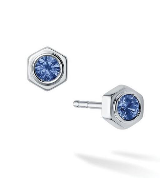 Birks Bee Chic Sapphire and Silver Stud Earrings - Fifth Avenue Jewellers