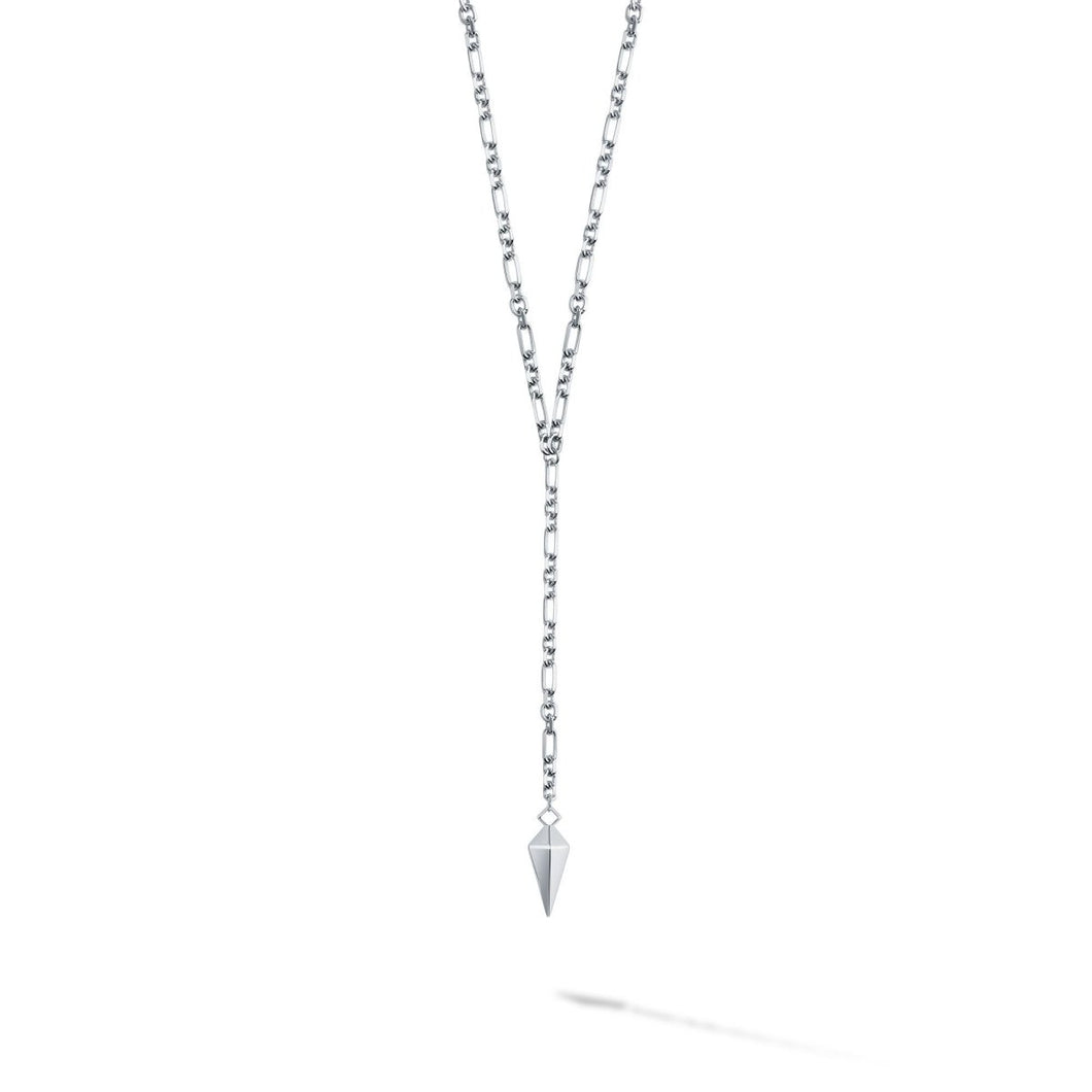 Birks Iconic Silver Rock & Pearl Lariat Necklace - Fifth Avenue Jewellers