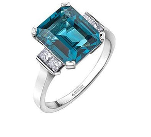 Blue Topaz Cocktail Ring - Fifth Avenue Jewellers