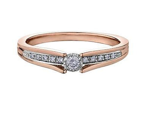 Bridge Over Water Rose Gold Ring - Fifth Avenue Jewellers