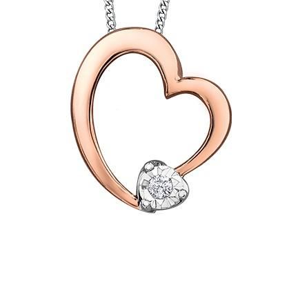Bubbly Rose Heart Necklace - Fifth Avenue Jewellers