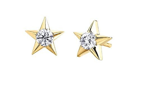 Casual Lux Large Diamond Star Earrings - Fifth Avenue Jewellers