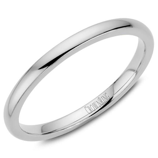 CrownRing 10K White Gold Wedding Band 2mm TDL10W2/7 - Fifth Avenue Jewellers