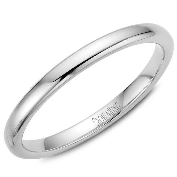 CrownRing 10K White Gold Wedding Band 2mm TDS10W2/6 - Fifth Avenue Jewellers