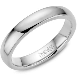 CrownRing 10K White Gold Wedding Band 4mm TDL10W4/6 - Fifth Avenue Jewellers
