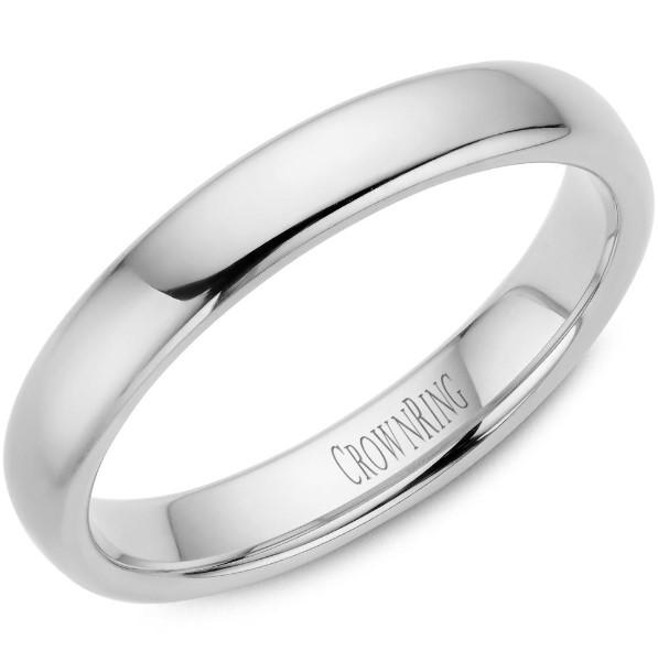 CrownRing 10K White Gold Wedding Band 4mm TDS10W4/5.5 - Fifth Avenue Jewellers