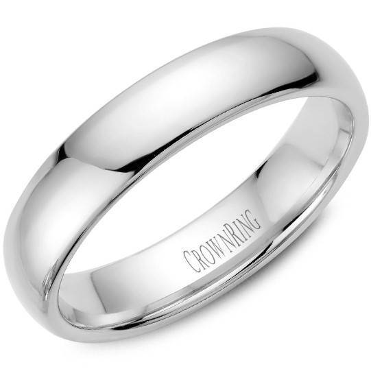 CrownRing 10K White Gold Wedding Band 5mm TDL10W5/10 - Fifth Avenue Jewellers