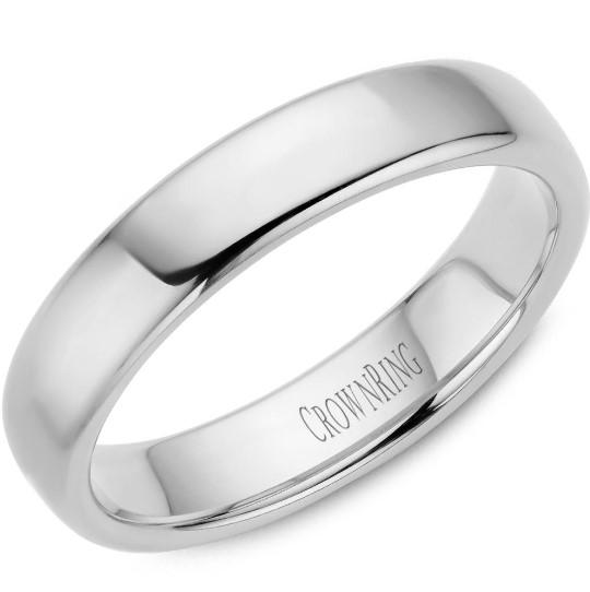 CrownRing 10K White Gold Wedding Band 5mm TDS10W5/10.5 - Fifth Avenue Jewellers