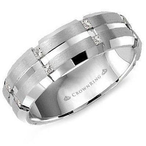 CrownRing 10K White Gold Wedding Band WB-7092-N10 - Fifth Avenue Jewellers