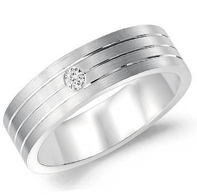 CrownRing 10K White Gold Wedding Band WB-7106-N10 - Fifth Avenue Jewellers