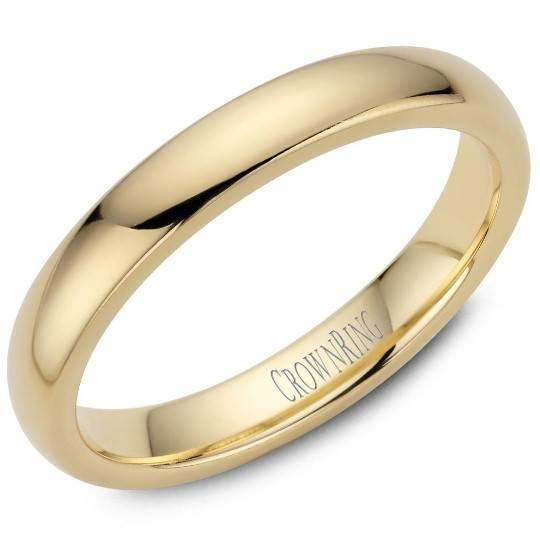CrownRing 10K Yellow Gold Wedding Band 3mm TDL10Y3/5 - Fifth Avenue Jewellers