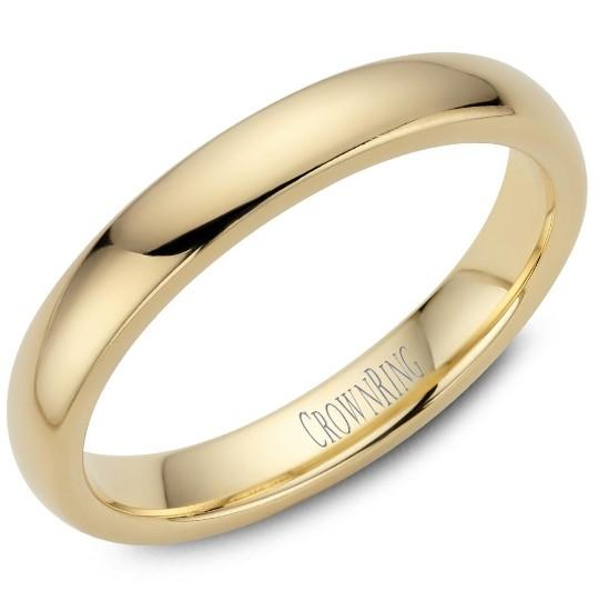 CrownRing 10K Yellow Gold Wedding Band 3mm TDS10Y3/7 - Fifth Avenue Jewellers