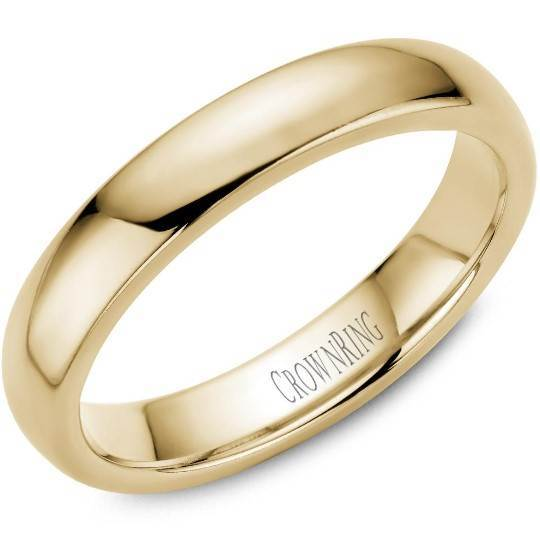 CrownRing 10K Yellow Gold Wedding Band 4mm TDL10Y4/7 - Fifth Avenue Jewellers