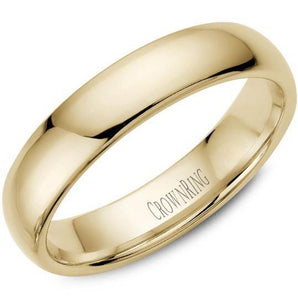CrownRing 10K Yellow Gold Wedding Band 5mm TDL10Y5/10.5 - Fifth Avenue Jewellers