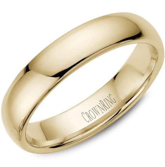CrownRing 10K Yellow Gold Wedding Band 5mm TDL10Y5/9 - Fifth Avenue Jewellers