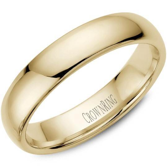 CrownRing 10K Yellow Gold Wedding Band 5mm TDS10Y5/10 - Fifth Avenue Jewellers
