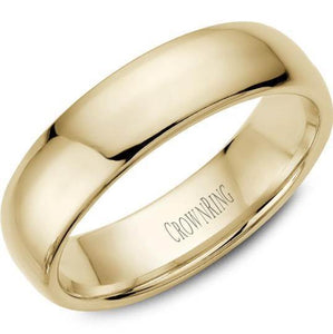 CrownRing 10K Yellow Gold Wedding Band 6mm TDS10Y6/9 - Fifth Avenue Jewellers