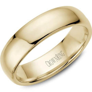 CrownRing 10K Yellow Gold Wedding Band 6mm TDS10Y6/9.5 - Fifth Avenue Jewellers