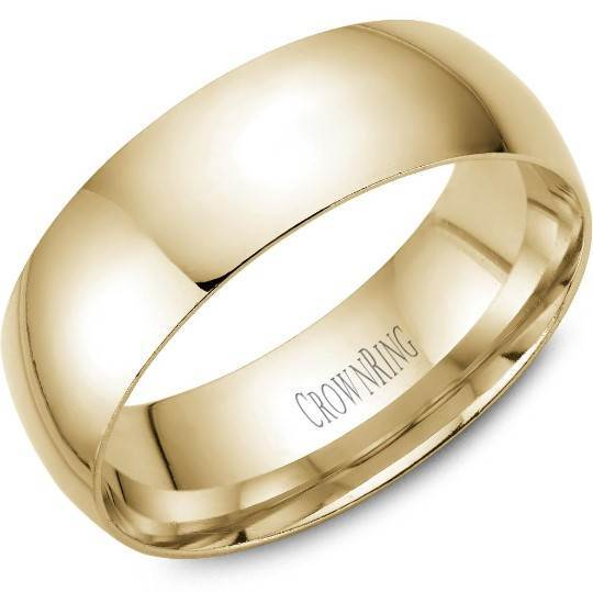CrownRing 10K Yellow Gold Wedding Band 7mm TDL10Y7/11 - Fifth Avenue Jewellers