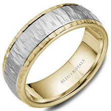 Load image into Gallery viewer, CrownRing Bleu Royale Two Toned Mens Band RYL-045WY75 - Fifth Avenue Jewellers