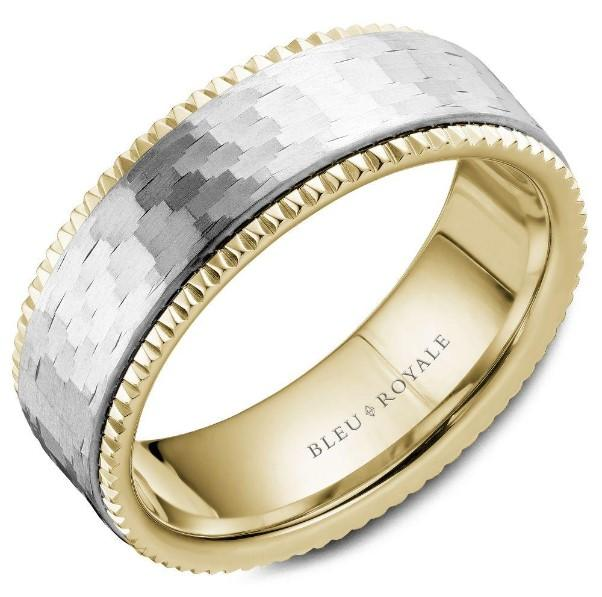 CrownRing Bleu Royale Yellow Gold Mens Band RYL-032Y75 - Fifth Avenue Jewellers