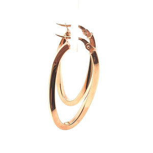 Curving Rose Gold Hoops - Fifth Avenue Jewellers