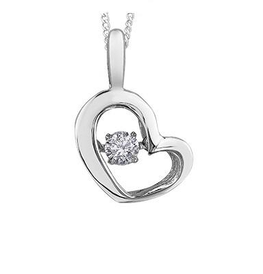 Dancing Diamond Heart Necklace - Fifth Avenue Jewellers