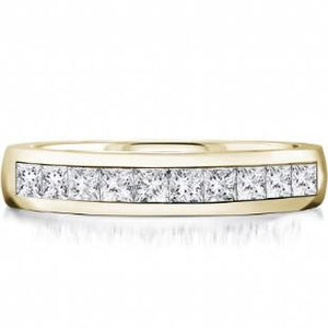 Dazzling Princess Cut Band - Fifth Avenue Jewellers