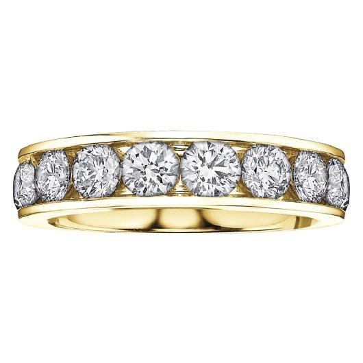 Diamond Band In Yellow Gold - Fifth Avenue Jewellers