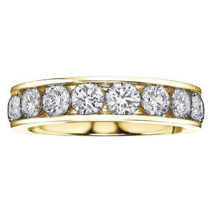 Diamond Channel Anniversary Band in Yellow Gold - Fifth Avenue Jewellers