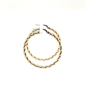 Diamond Cut Door Knocker Hoops - Fifth Avenue Jewellers
