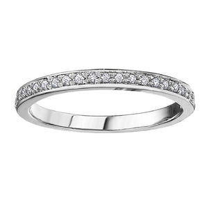 Diamond Deluxe Anniversary Band in White Gold - Fifth Avenue Jewellers