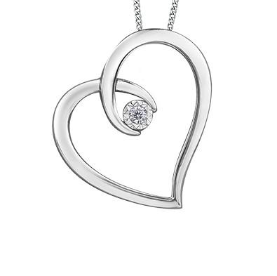 Diamond Embrace Heart Necklace - Fifth Avenue Jewellers