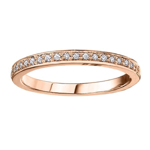 Diamond Eternity Wedding Band in Rose Gold - Fifth Avenue Jewellers