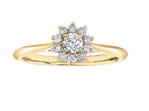 Diamond Flower Engagement Ring - Fifth Avenue Jewellers