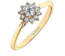 Load image into Gallery viewer, Diamond Flower Engagement Ring - Fifth Avenue Jewellers