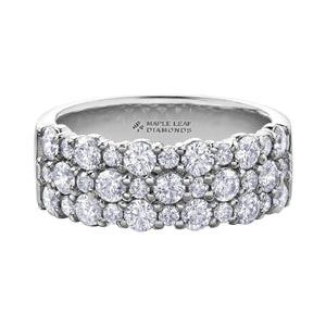 Diamond Luxury Dinner Band in White Gold - Fifth Avenue Jewellers