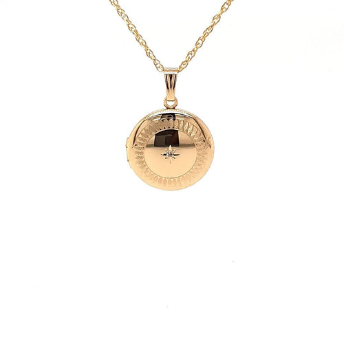 Diamond Set Locket In Yellow Gold - Fifth Avenue Jewellers