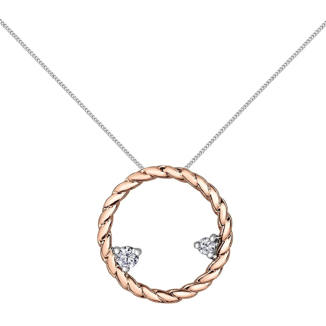 Diamond Shimmer Circular Rope Necklace - Fifth Avenue Jewellers