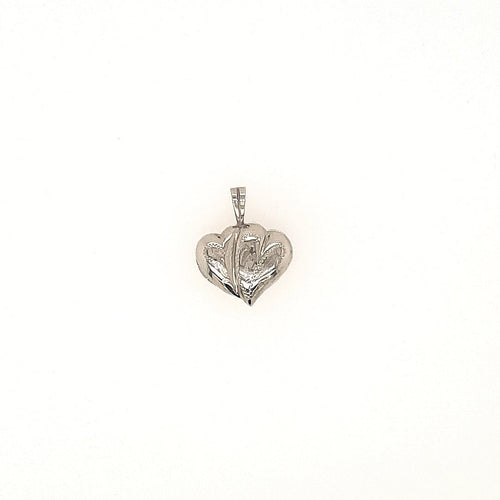 Double Heart Locket In White Gold - Fifth Avenue Jewellers