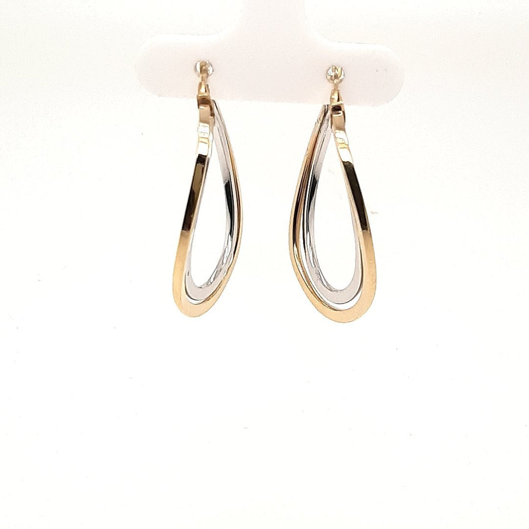 Doubled Tear Drop Hoops - Fifth Avenue Jewellers