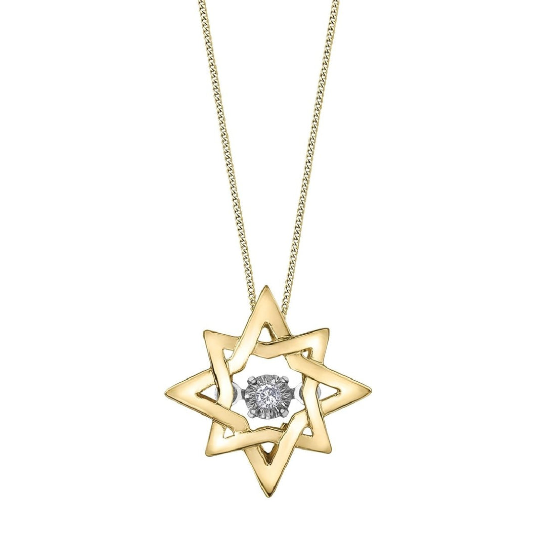 Eight Pointed Star Necklace With Diamond Pulse - Fifth Avenue Jewellers