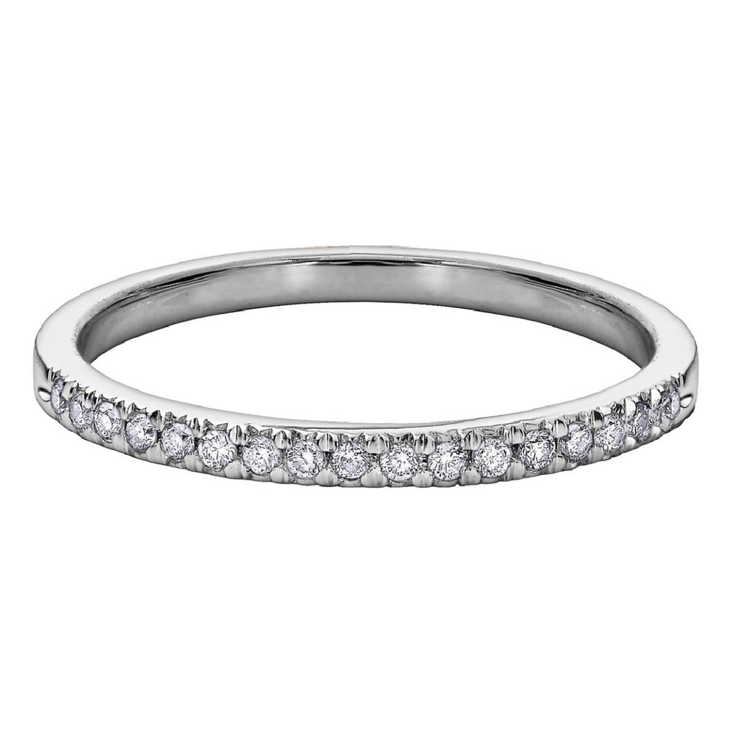 Enchanted Diamond Wedding Band in White Gold - Fifth Avenue Jewellers