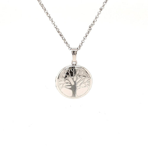 Family Tree Locket In Sterling Silver - Fifth Avenue Jewellers