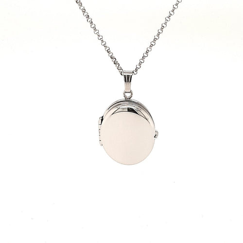 Four Picture Oval Locket In Sterling Silver - Fifth Avenue Jewellers