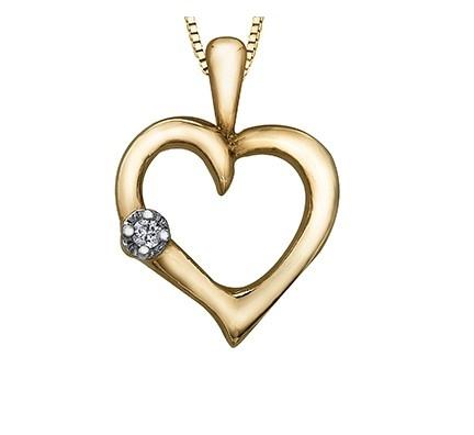 Freestyle Heart With Diamond Accent - Fifth Avenue Jewellers