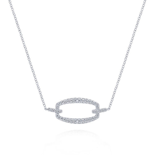 Gabriel & Co 14K White Gold and Diamond Choker Necklace NK5900W45JJ - Fifth Avenue Jewellers